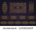 set of vector art deco golden... | Shutterstock .eps vector #1292810659