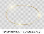 gold shiny glowing vintage... | Shutterstock .eps vector #1292813719