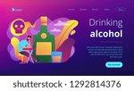 depressed drunk man sitting and ...   Shutterstock .eps vector #1292814376