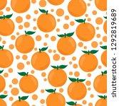 hand drawn simple orange fruit... | Shutterstock .eps vector #1292819689