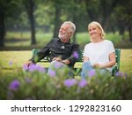 two happy seniors retirement... | Shutterstock . vector #1292823160
