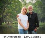 portrait of senior couple... | Shutterstock . vector #1292825869