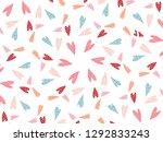 valentine's day pattern... | Shutterstock .eps vector #1292833243