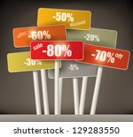 3d selection of multicolored... | Shutterstock .eps vector #129283550