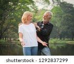 portrait of senior couple... | Shutterstock . vector #1292837299