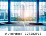 glass wall in the office... | Shutterstock . vector #129283913