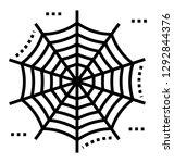 cobweb solid icon design  | Shutterstock .eps vector #1292844376