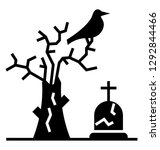 scary graveyard  glyph icon... | Shutterstock .eps vector #1292844466