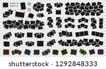 mega pack of realistic photo... | Shutterstock .eps vector #1292848333