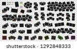 mega pack of realistic polaroid ... | Shutterstock .eps vector #1292848333