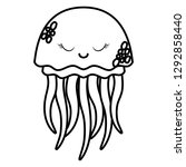 jellyfish icon image | Shutterstock .eps vector #1292858440