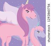 cute unicorn design   Shutterstock .eps vector #1292860756
