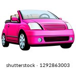 small female pink car.... | Shutterstock .eps vector #1292863003