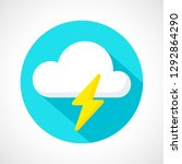 color weather thunderstorm icon ... | Shutterstock .eps vector #1292864290