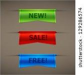colorful volume speech balloons ... | Shutterstock .eps vector #129286574