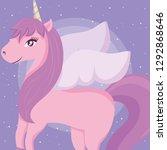 cute unicorn design   Shutterstock .eps vector #1292868646
