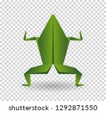 frog origami abstract isolated... | Shutterstock .eps vector #1292871550