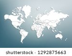 world map paper. political map... | Shutterstock .eps vector #1292875663