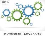 colored gear wheels showing...   Shutterstock .eps vector #1292877769