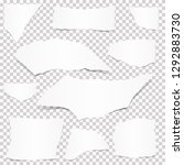 collection of paper scraps... | Shutterstock .eps vector #1292883730