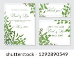 wedding invitation frame set ... | Shutterstock .eps vector #1292890549