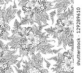 vintage floral pattern white... | Shutterstock . vector #129289610