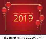 happy chinese new year 2019 ...   Shutterstock .eps vector #1292897749