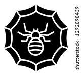 cobweb solid icon design ... | Shutterstock .eps vector #1292898439