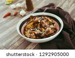 roasted sleeves chicken with... | Shutterstock . vector #1292905000