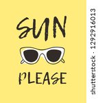 hand drawn summer quote and... | Shutterstock .eps vector #1292916013