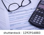 us individual income tax return ... | Shutterstock . vector #1292916883