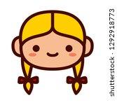 vector cartoon blonde girl... | Shutterstock .eps vector #1292918773