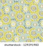 children's floral pattern | Shutterstock .eps vector #129291983