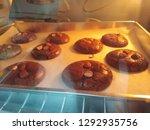crinkle brownie cookies with... | Shutterstock . vector #1292935756