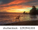 art photo with a chair at... | Shutterstock . vector #1292941333