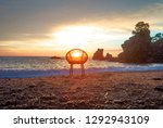 art photo with a chair at... | Shutterstock . vector #1292943109