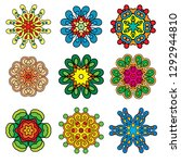 set of six pointed rosettes.... | Shutterstock .eps vector #1292944810