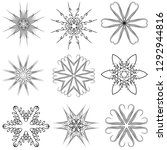 set of six pointed rosettes.... | Shutterstock .eps vector #1292944816