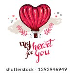 my heart for you typography for ... | Shutterstock .eps vector #1292946949