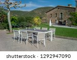 outdoor dining furniture set... | Shutterstock . vector #1292947090
