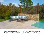 sofa by the pool | Shutterstock . vector #1292949496