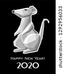 2020 happy new year greeting... | Shutterstock .eps vector #1292956033