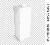 white cardboard package for... | Shutterstock .eps vector #1292956876