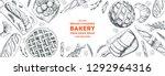 bakery background. bakery  top...   Shutterstock .eps vector #1292964316
