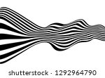 black and white curved line ... | Shutterstock .eps vector #1292964790