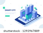 smart city concept. can use for ... | Shutterstock .eps vector #1292967889
