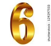 gold emblem number 6 | Shutterstock .eps vector #129297533