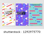 covers with flat geometric... | Shutterstock .eps vector #1292975770