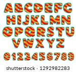set of bold  bright  cartoon... | Shutterstock .eps vector #1292982283