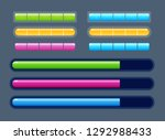 vector set of volume colored... | Shutterstock .eps vector #1292988433